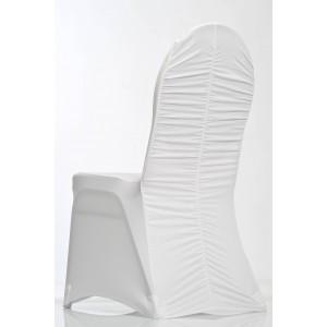 Housse de chaise lycra ondulée
