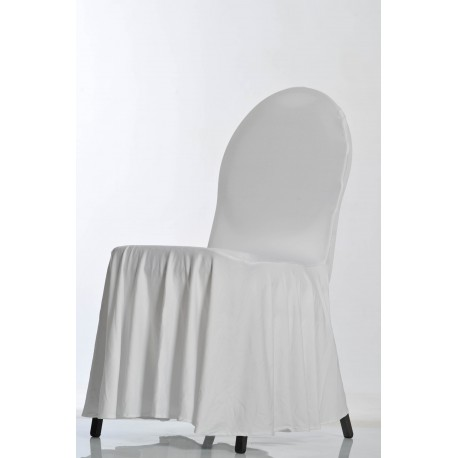 Housse de chaise lycra tombante